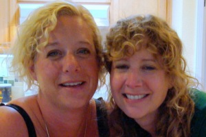My sister Laura visited one day. When I moved west, we could visit any day.